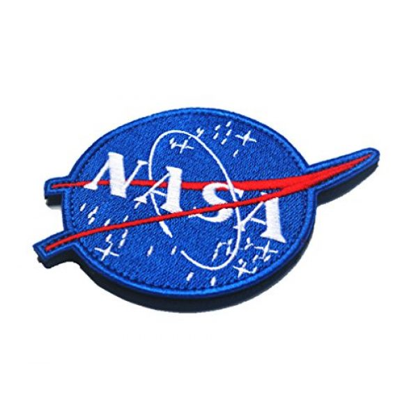 WZT Airsoft Morale Patch 3 WZT 4 Pcs Tactical Flag Patch - Combination USA NASA Patch Embroidered Morale Lot Military Embroidered Patches