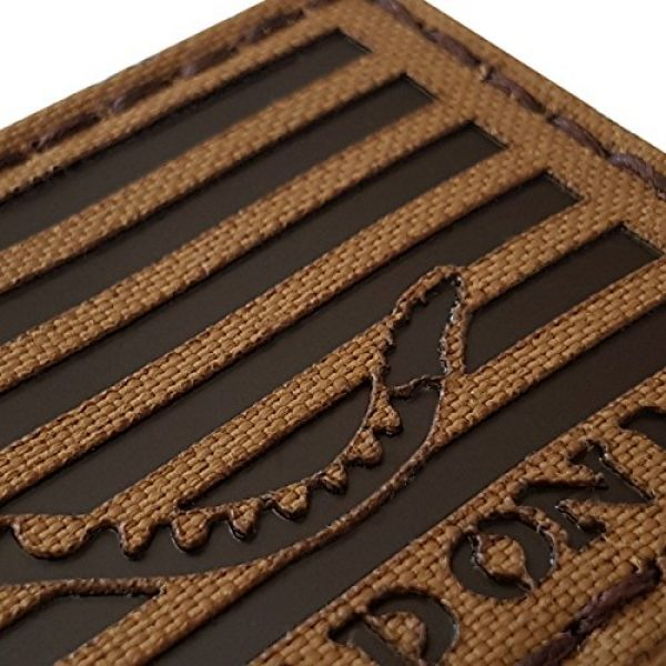 Tactical Freaky Airsoft Morale Patch 4 Coyote Brown Tan Infrared IR US First Navy Jack Dont Tread On Me DTOM Flag 3.5x2 Tactical Morale Touch Fastener Patch