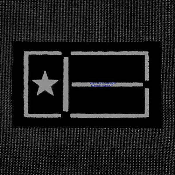 Tactical Freaky Airsoft Morale Patch 2 IR Coyote Tan Texas Lone Star Flag 2x3.5 IFF Tactical Morale Touch Fastener Patch