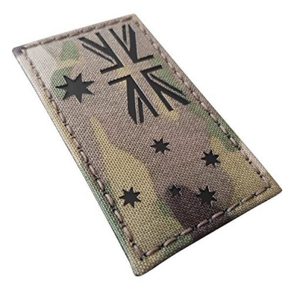 Tactical Freaky Airsoft Morale Patch 5 Australia Flag Multicam Infrared IR 3.5x2 IFF Tactical Morale Fastener Patch