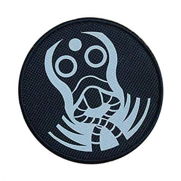 """Embroidery Patch Airsoft Morale Patch 2 SCP Foundation Special Containment Procedures Foundation SCP Mobile Task Forces Zeta-9 Mole Rats"""" Military Hook Loop Tactics Morale Reflective Patch"""