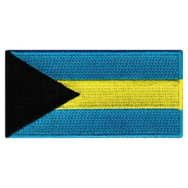 Cypress Collectibles Embroidered Patches Airsoft Morale Patch 1 Bahamas Flag Embroidered Patch Bahamian Islands Iron-On National Emblem