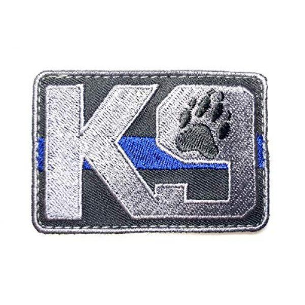 PakedDeals Airsoft Morale Patch 1 PakedDeals Thin Blue Line K9 Morale Patch Hook & Loop Police Bag Tac Vest