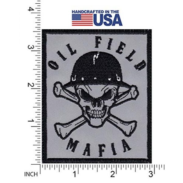 Tactical Patch Works Airsoft Morale Patch 2 Oil Field Mafia Skull & Cross Bones Oil Rig Roughneck Patch
