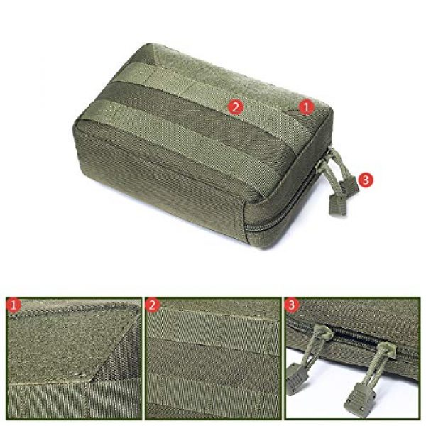Azarxis Tactical Pouch 3 Azarxis Tactical MOLLE Rip-Away EMT Medical First Aid IFAK Blowout Pouch Trauma Bag