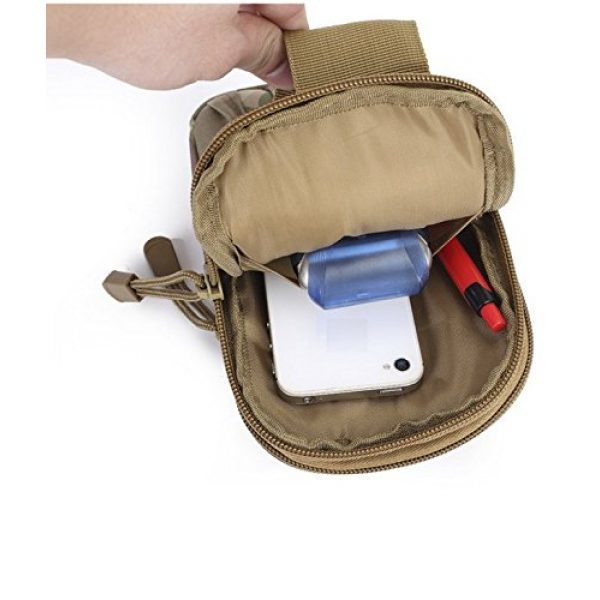 BlueSunshine Tactical Pouch 6 BlueSunshine Multipurpose Tactical Cover Smartphone Tan Camo Holster EDC Security Pack Carry Case Pouch Belt Waist Bag Gadget Money Pocket for iPhone 6s 7 Samsung Galaxy S7 Note5 LG G5