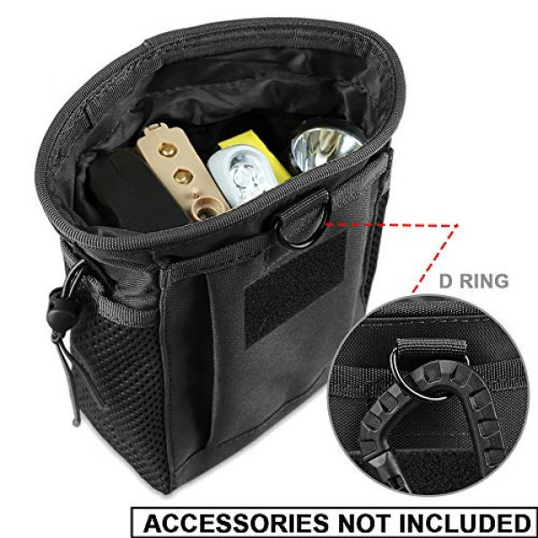 AMYIPO Tactical Pouch 4 AMYIPO Tactical Hip Holster Bag Outdoor Pouch Molle Drawstring Magazine Dump Pouch, Military Adjustable Belt Utility Pouch