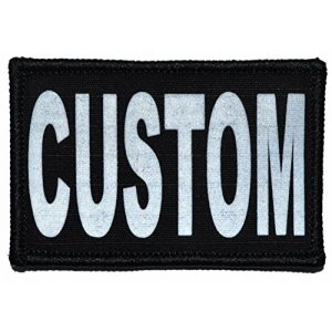 Tactical Gear Junkie Airsoft Morale Patch 1 Custom Reflective Patch - 2 x 3 inch Custom Text Patch - Black