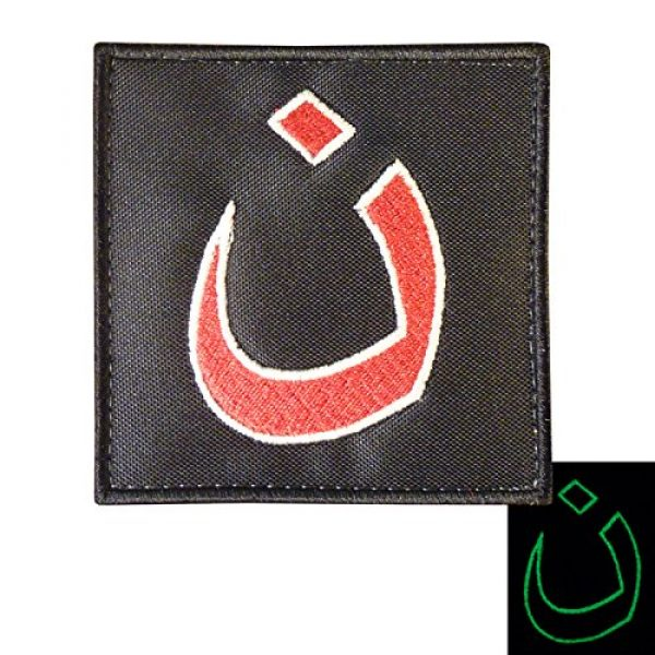 LEGEEON Airsoft Morale Patch 1 LEGEEON Glow Dark Christians in Iraq Support ISAF Morale Army Sew Iron on Patch