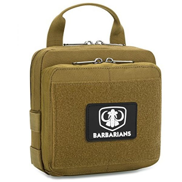 Barbarians Tactical Pouch 3 Barbarians Tactical Admin Pouch, MOLLE Military Tool Map Bag Organizer