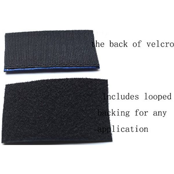 TACVASEN Airsoft Morale Patch 6 TACVASENBundle 2 Pieces-Tactical US Flag Thin Blue Line Embrodiered Patch