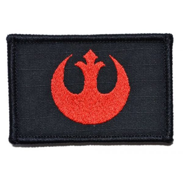 Tactical Gear Junkie Airsoft Morale Patch 1 Rebel Alliance Emblem 2x3 Patch - Black with Red