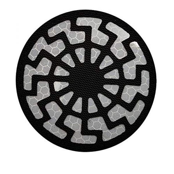 APBVIHL Airsoft Morale Patch 7 Reflective Infrared IR Black Sun Patch Stickers Chemical Resident Evil Military Morale Decorative Patches Emblem Badges Tactical Appliques with Hook and Loop Fastener Backing