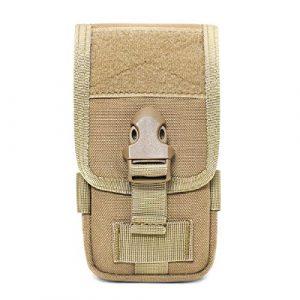 Azarxis Tactical Pouch 1 Azarxis Tactical Cell Phone Holster Pouch, Tactical Smartphone Pouches EDC Cellphone Case Molle Gadget Bag Molle Attachment Belt Holder Waist Bag