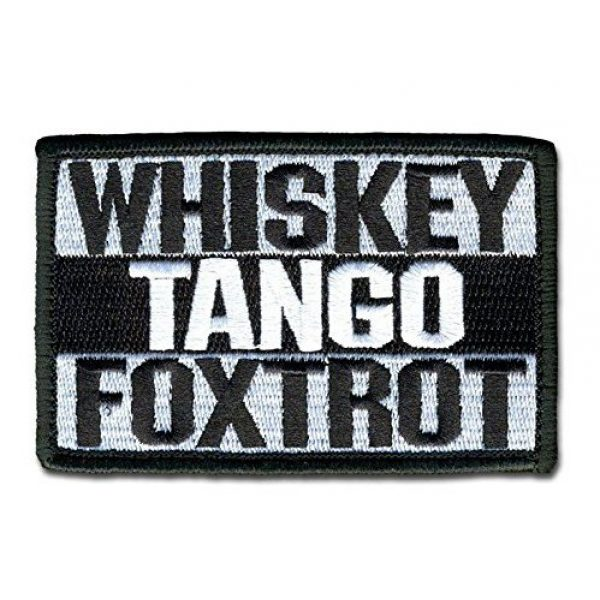 """Antrix Airsoft Morale Patch 1 Antrix Whiskey Tango Foxtrot Military Morale Patch Hook & Loop Tactical Patch - 3.15""""x2"""""""