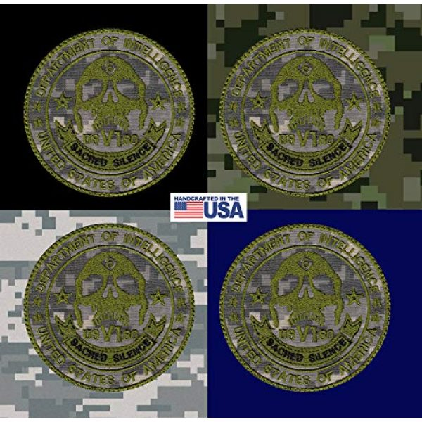 Tactical Patch Works Airsoft Morale Patch 4 Sacred Silence Department Patch