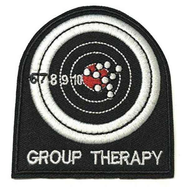 """Appalachian Spirit Airsoft Morale Patch 1 Group Therapy Range Target 3"""" Embroidered Premium Patch Iron-On/Sew-On Decorative Applique Cap Hat Nation Country Patriotic Military Veteran Uniform Name Tag Custom Jacket Gear Biker"""