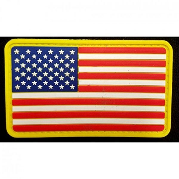 DDT VETERAN OWNED AND OPERATED Airsoft Morale Patch 1 DDT US Flag PVC Morale Patch