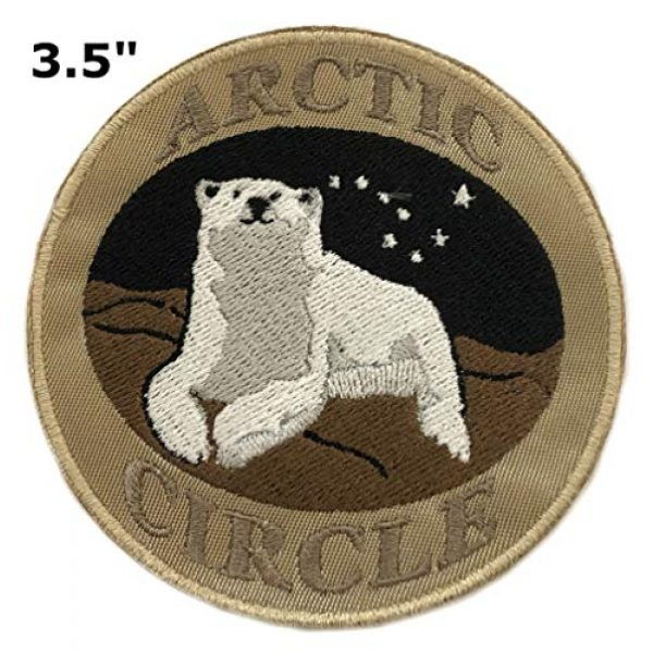 """Appalachian Spirit Airsoft Morale Patch 2 Arctic Circle Polar Bear 3.5"""" Embroidered Patch DIY Iron-on or Sew-on Decorative Vacation Travel Souvenir Applique Explore Wander Nature Wildlife Series Wolves Wildlife Hike Trek Camping National Park"""