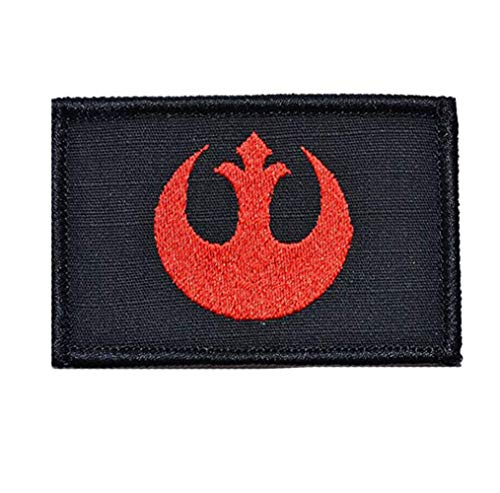 Zhikang68 Airsoft Morale Patch 1 Star War Embroidered Patches Rebel Scum and Jedi Order Emblem Morale Military Hook & Loop Tactical Patches (Red)