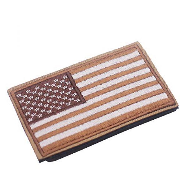 DATOUWEN ACCESSARY Airsoft Morale Patch 2 ZHDTW Tactical Morale US Flag Embroidered Patches with Hook and Loop (DT-029)