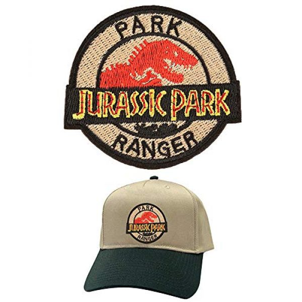 Jacknb Airsoft Morale Patch 4 Dinosaur Iron on Patches Jurassic Park Tactical Embroidered Applique Patches Badge Morale Decoration Sew on Patches for Jacket Jeans Backpacks Hat Clothing (15 Pcs)