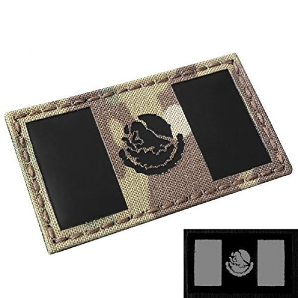 Tactical Freaky Airsoft Morale Patch 1 Multicam Infrared IR Mexico Flag 3.5x2 IFF Tactical Morale Hook&Loop Patch