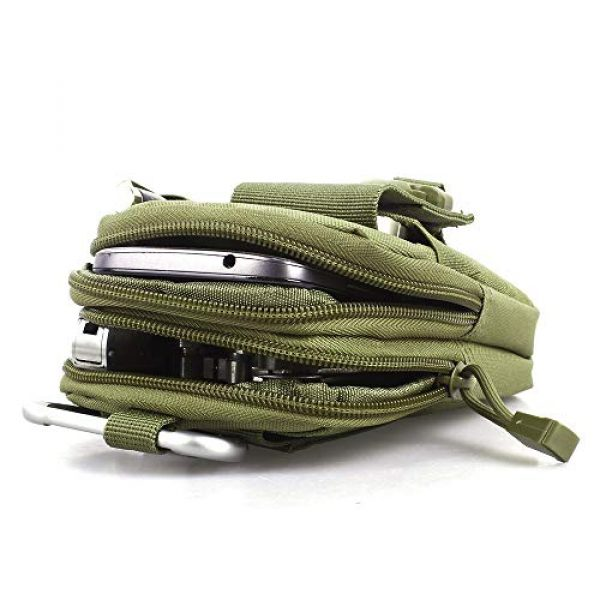 Goodforalllilewen Tactical Pouch 5 Goodforalllilewen Tactical Waist Pack,Molle Pouch with Zipper,Pouch for Belt,Fanny Pack Pocket for Sports Travel Hiking Running Cycling Camping,Backpack Accessories Adjustable for Men and Women