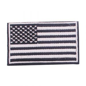 ZHDTW Airsoft Morale Patch 1 ZHDTW Tactical Morale Black and White American National Flag Embroidered Patches with Hook and Loop for Backpack (DT-028)