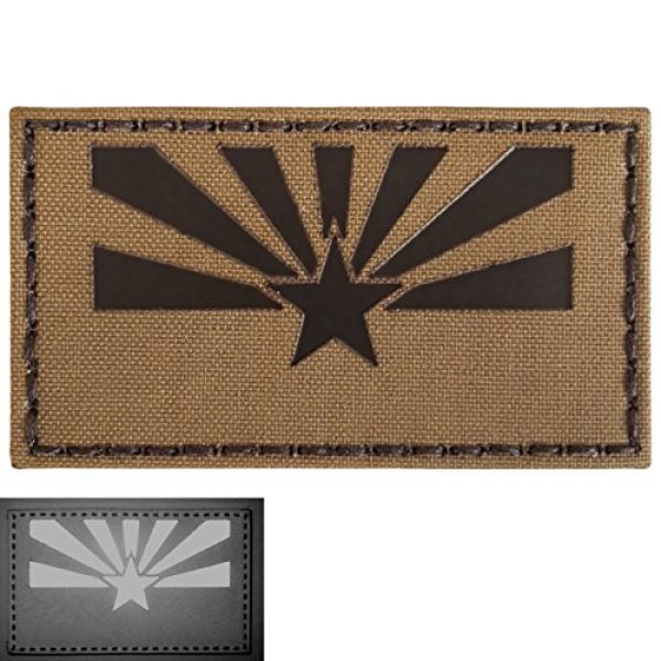 Tactical Freaky Airsoft Morale Patch 3 Coyote Brown Tan Infrared IR Arizona Flag 3.5x2 IFF Tactical Morale Fastener Patch