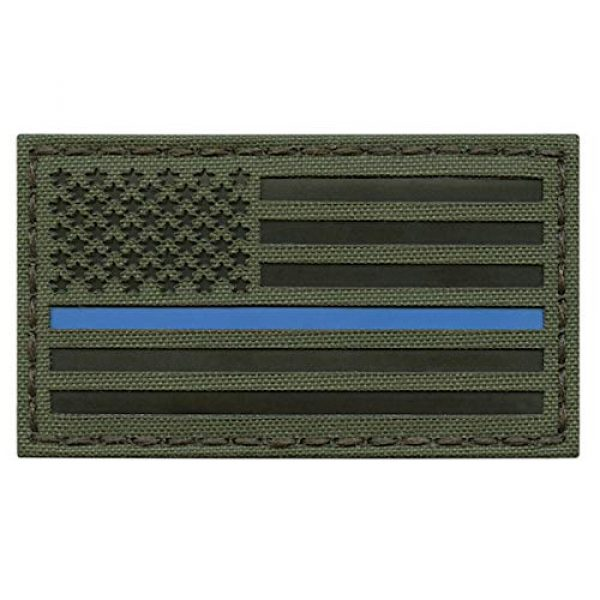 Tactical Freaky Airsoft Morale Patch 1 OD Green IR USA American Flag 3.5x2 Thin Blue Line Infrared Tactical Morale Hook-and-Loop Patch