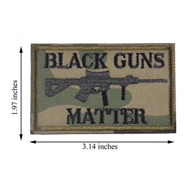 J.CARP Airsoft Morale Patch 5 Black Guns Matter - 2x3 Decorative Morale Patch (Multicam with Spice), Green