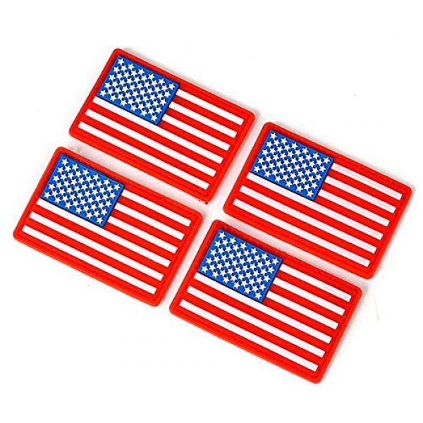 Tactical PVC Patch Airsoft Morale Patch 1 4pcs USA Flag PVC Military Tactical Morale Patch Badges Emblem Applique Hook Patches for Clothes Backpack Accessories