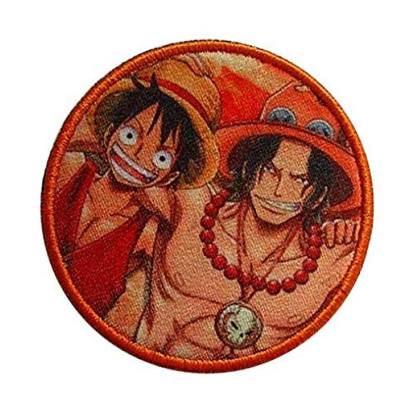 Fine Print Patch Airsoft Morale Patch 3 One Piece Luffy Hook Loop Tactics Morale Printed Patch
