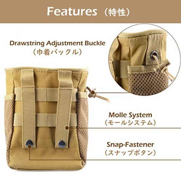 TRIWONDER Tactical Pouch 4 TRIWONDER Molle Drawstring Magazine Dump Pouch Tactical EDC Utility Fanny Hip Holster Bag Waist Bag Military Bag Outdoor Ammo Pouch