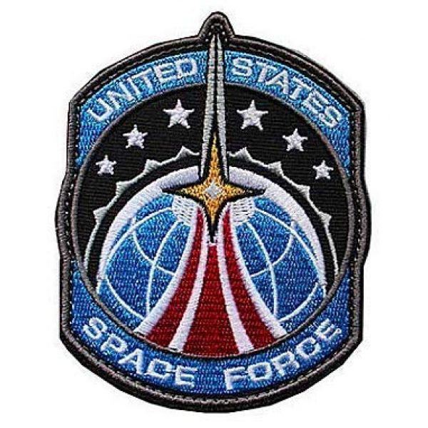 Embroidery Patch Airsoft Morale Patch 1 US Space Force Military Hook Loop Tactics Morale Embroidered Patch