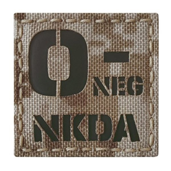Tactical Freaky Airsoft Morale Patch 1 AOR1 Digital Desert Tan Infrared IR ONEG NKDA O- Blood Type 2x2 Tactical Morale Fastener Patch
