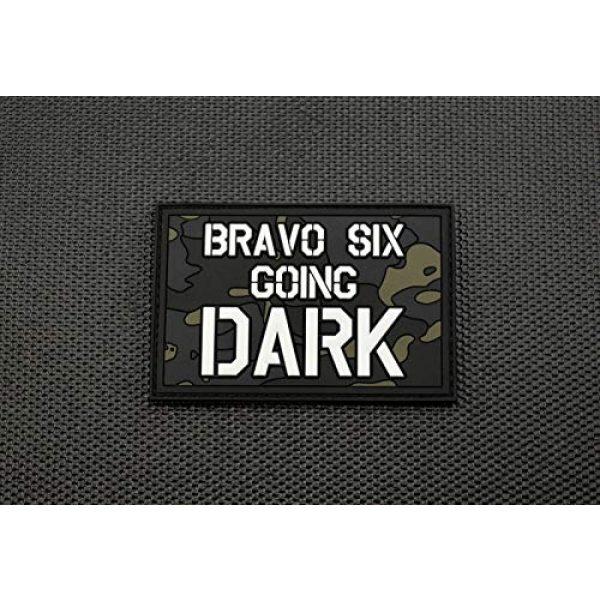 BritKitUSA Airsoft Morale Patch 3 Bravo Six Going Dark PVC Morale Patch GITD Multicam Call of Duty Modern Warfare