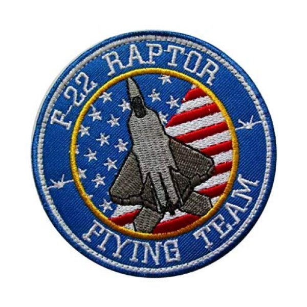 Embroidery Patch Airsoft Morale Patch 2 US F-22 Raptor Demo Team F22 AIR Force Stealth Fighter Military Hook Loop Tactics Morale Embroidered Patch