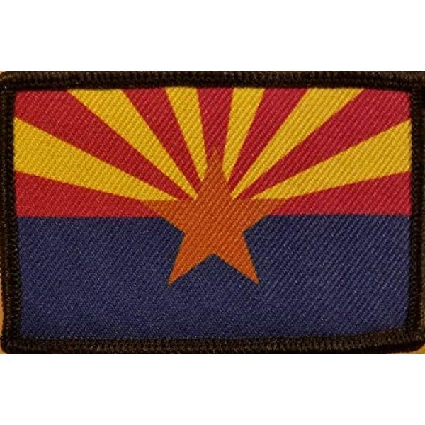 Fast Service Designs Airsoft Morale Patch 1 Arizona State Flag Patch with Hook & Loop Tactical Morale Emblem Black Border #5