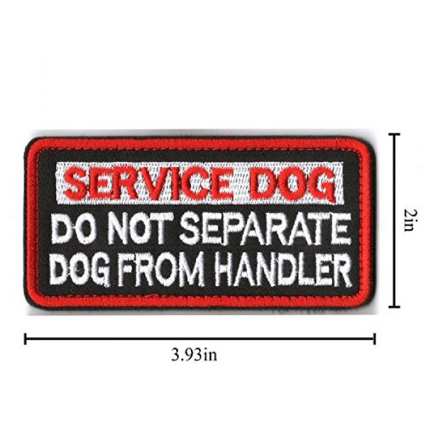 WZT Airsoft Morale Patch 6 WZT 6 Pieces Service Dog Working Do Not Touch Military Tactical Morale Badge Hook & Loop Fastener Patch