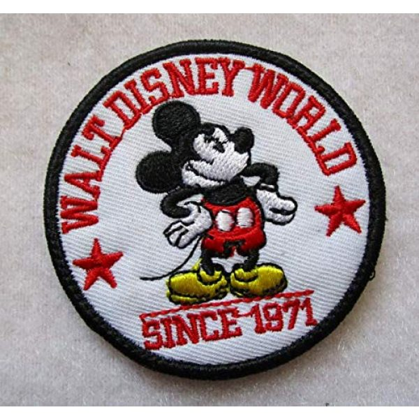 Embroidered Patch Airsoft Morale Patch 1 M-Ickey Mouse Rat 3D Tactical Patch Military Embroidered Morale Tags Badge Embroidered Patch DIY Applique Shoulder Patch Embroidery Gift Patch