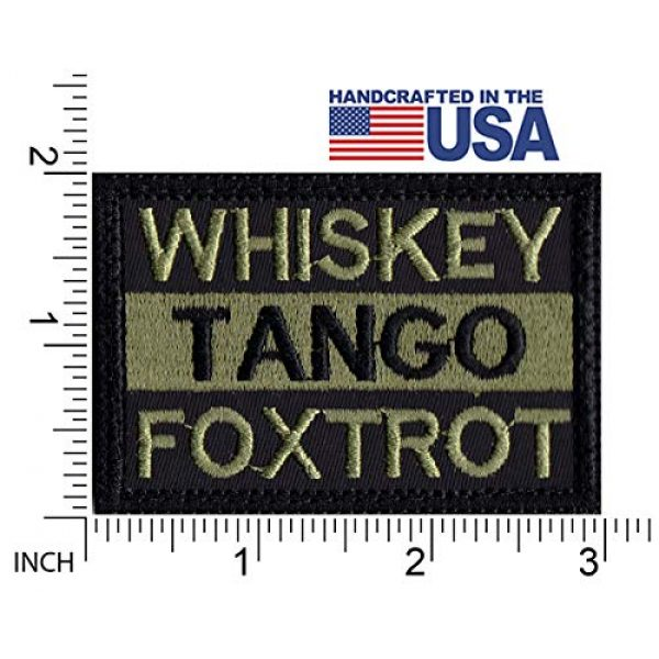 Tactical Patch Works Airsoft Morale Patch 2 WTF Whiskey Tango Foxtrot Patch