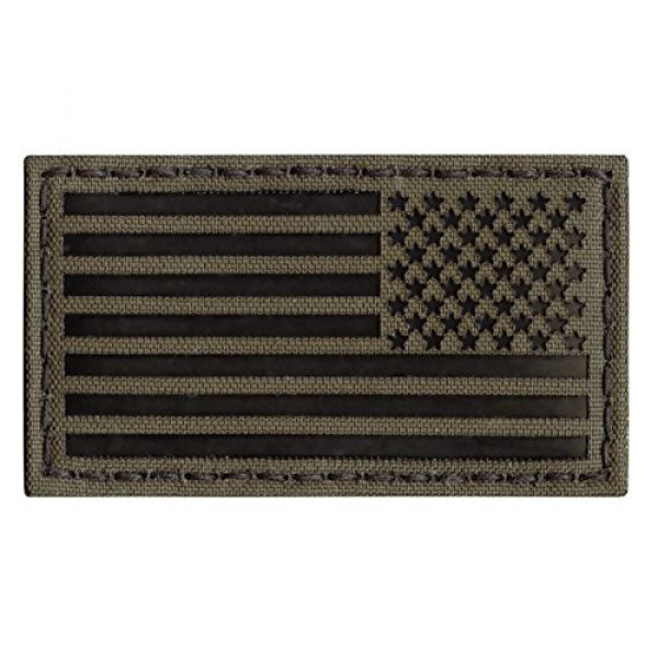Tactical Freaky Airsoft Morale Patch 4 Ranger Green Infrared IR USA American Reversed Flag 3.5x2 IFF Tactical Morale Touch Fastener Patch