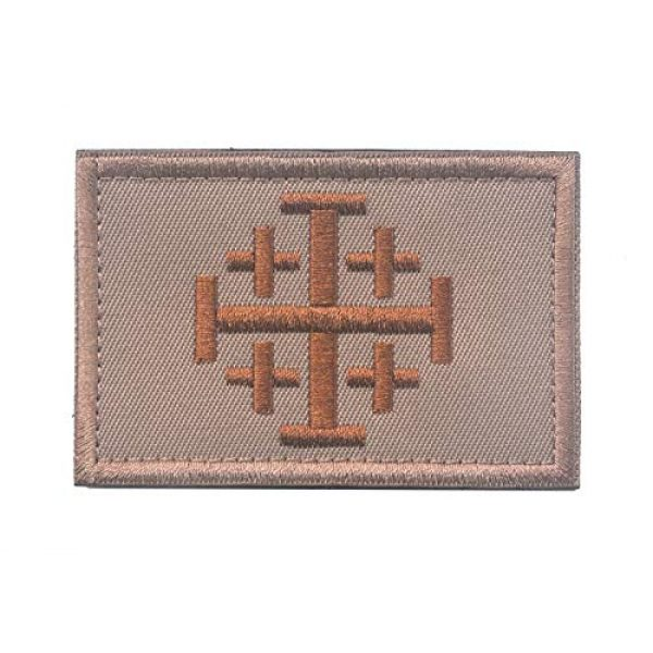 ALIPLUS Airsoft Morale Patch 1 Time For Another Crusade Christian Arabic Symbol Patch Jerusalem Cross Crusader Jihad Tactical Army Morale Patch Badge (8 x 5 cm khaki)