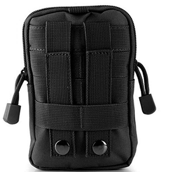 Bonlting Tactical Pouch 6 Outdoor Waist Bag Portable Waterproof Compact Cell Phone Carrying Case Holster Belt Waist Pouch with Zipper(Black)