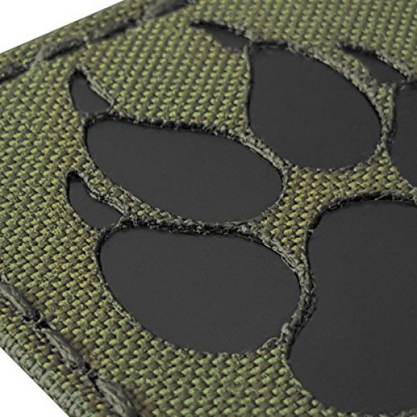 Tactical Freaky Airsoft Morale Patch 5 Olive Drab OD Green Infrared IR K9 Dog Handler Paw K-9 2x2 Tactical Morale Fastener Patch