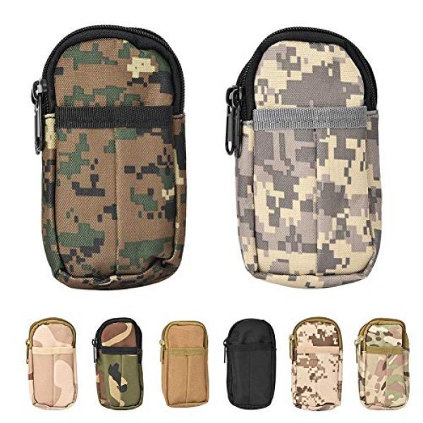 Boquite Tactical Pouch 7 Boquite Valentine's Day Carnival Gadget Pouch,Outdoor Accessory Bag Waterproof Mobile Phone Sports Waist Bag(Black)
