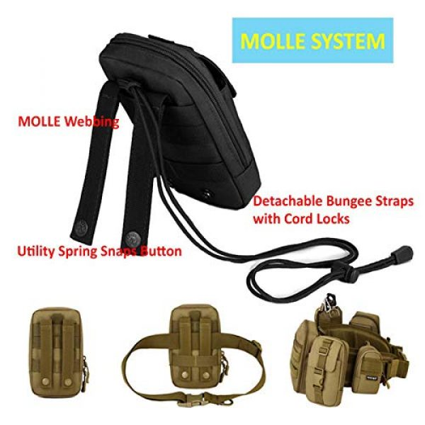 BAIGIO Tactical Pouch 4 BAIGIO Molle Tactical Pouch Phone Holder EDC Pouch Tool Holder Purse Military Belt Pouch