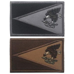 Tactical Embroidery Patch Airsoft Morale Patch 1 American Samoa Flag Tactical Embroidery Patch Hook & Loop Morale Patch Military Patch for Clothing Accessory Backpack Armband (2pcs)
